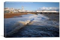 Stormy Brighton, Canvas Print