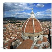 The Duomo Florence panorama, Canvas Print