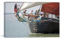 Thames Barge Adieu, Canvas Print