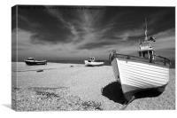 Dungeness Trio monochrome, Canvas Print