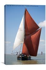 Thames Barge Edith May, Canvas Print