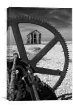 Dungeness Dereliction Monochrome, Canvas Print