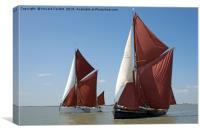 Thames barges Edith May and Niagara, Canvas Print