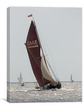 Thames Barge Edme, Canvas Print