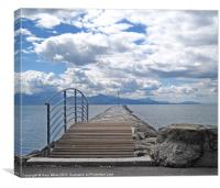 Lake Geneva Clouds, Canvas Print