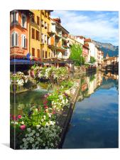 Annecy Flowers, Canvas Print
