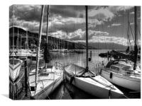 Lake Geneva Boats, Canvas Print