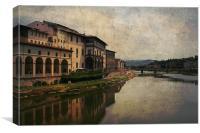 Arno River, Canvas Print