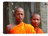 Cambodian Monks, Canvas Print