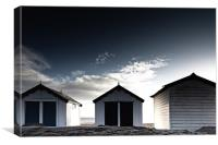 Southwold beach huts in winter, Canvas Print