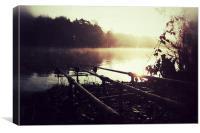 Fishing at Sunrise, Canvas Print