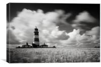 Windswept Happisburgh Lighthouse, Canvas Print