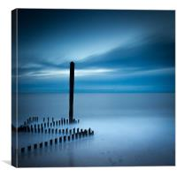 Caistor Beach Blues, Canvas Print