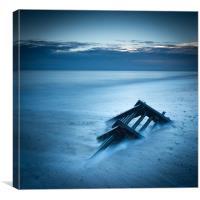 Caistor beach dawn, Canvas Print