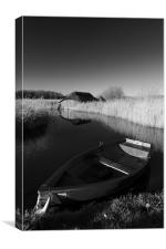 Hickling Rowing Boat, Canvas Print