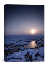 Winters Sunset, Canvas Print