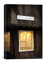 The Little Shambles, Canvas Print