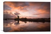 Norfolk Broads Sunset, Canvas Print