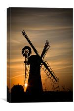 Summer Evening at thurne windmill, Canvas Print
