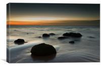 Afterglow - Sunset Hunstanton, Canvas Print