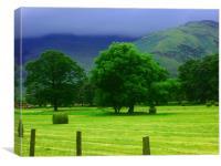 Hay Making, Canvas Print