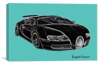 Bugatti Veyron sports car, Canvas Print