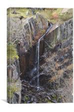 1. Walna Scar Waterfall, Canvas Print