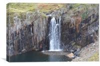3. Walna Scar Waterfall, Canvas Print