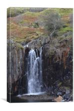 4. Walna Scar Waterfall, Canvas Print