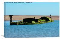 1. Walney Island , Anastasi Shipwreck, Canvas Print