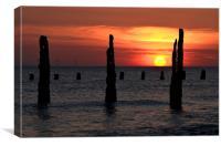 Walney Sunset 4, Canvas Print