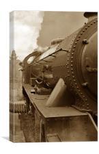 Steam Locomotive in Sepia, Canvas Print