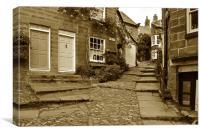 A Little Street in Robin Hoods Bay, Canvas Print
