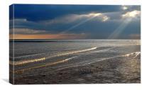 The Sunlit Shore, Canvas Print