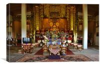 Nipponzan Myohoji Temple Interior, Canvas Print