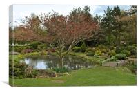 The Japanese Garden, Canvas Print