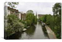 Regents Canal at Primrose Hill, Canvas Print