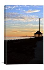 Littlehampton Beach Shelter, Canvas Print