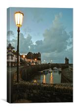 Lynmouth by Lamplight, Canvas Print