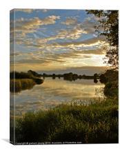 Marsworth Sunset, Canvas Print