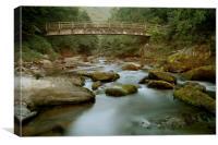 Bridge Over The East Lyn , Canvas Print
