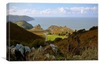 The Valley of Rocks, Lynton, North Devon , Canvas Print