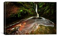 The Waterfall Below Dunkery Bridge, Canvas Print