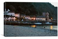 Lynmouth Harbour at Dusk, Canvas Print