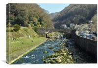The East Lyn River at Lynmouth, Canvas Print