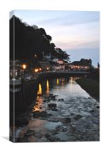 Lynmouth at dusk, Canvas Print