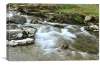 The East Lyn River at Lynmouth, North Devon, Canvas Print