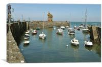 Lynmouth Harbour, North Devon, Canvas Print