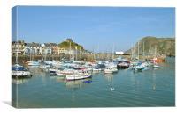 Ilfracombe Harbour, North Devon, Canvas Print