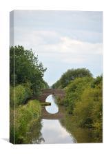 bridge over the aylesbury arm, Canvas Print